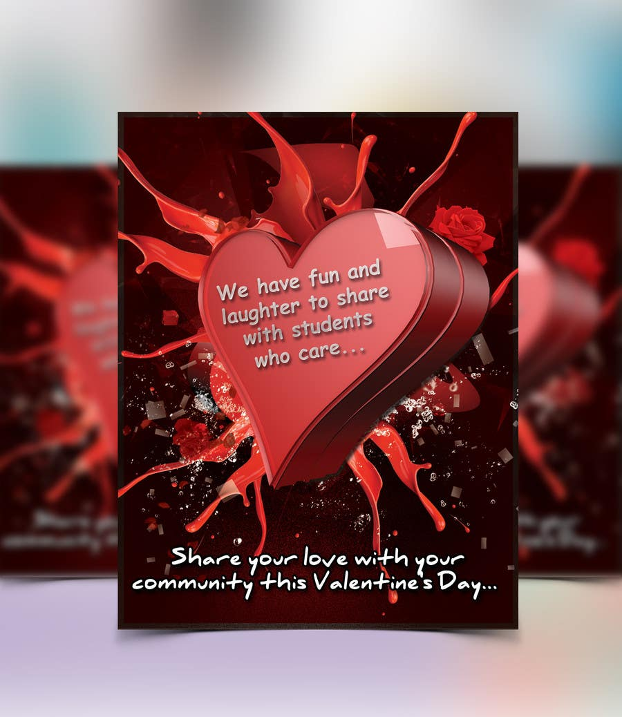 Entry 21 By Tahira11 For Design A Flyer For Valentine S Day Kid S