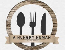 #5 for Plant based with lots of different foods, named: A Hungry Human I am wanting to incorporate the name in the middle over the top of a fork, spoon & knife, I like the look of rustic designs and maybe #plantbased in very small writing somewhere on the logo by euwonlol