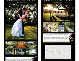 #31 cho Graphic Design for MARKETING BROCHURE -Blueberry Hill Estate- Wedding Specific -Media Kit for print bởi unidot