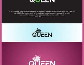 "#5 untuk logo design for a prestigious green tea brand .. name of the brand is ""Queen"" so the logo has to be very royal , should have the touch of a queens crown preferably have resemblance of the queen figure like on a deck of playing cards, should have a green l oleh rajputdstudio"