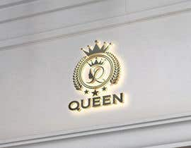 "#22 untuk logo design for a prestigious green tea brand .. name of the brand is ""Queen"" so the logo has to be very royal , should have the touch of a queens crown preferably have resemblance of the queen figure like on a deck of playing cards, should have a green l oleh designhunter007"