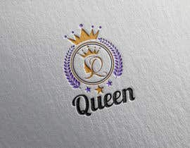 "designhunter007 tarafından logo design for a prestigious green tea brand .. name of the brand is ""Queen"" so the logo has to be very royal , should have the touch of a queens crown preferably have resemblance of the queen figure like on a deck of playing cards, should have a green l için no 23"