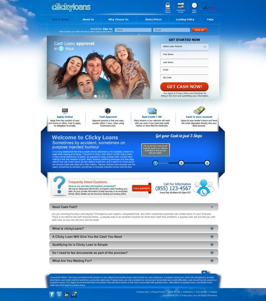 Inscrição nº 32 do Concurso para Website Design for clickyloans
