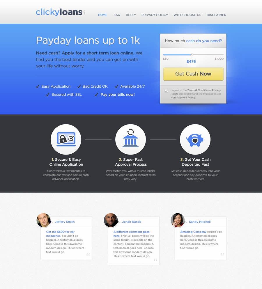 Inscrição nº 26 do Concurso para Website Design for clickyloans