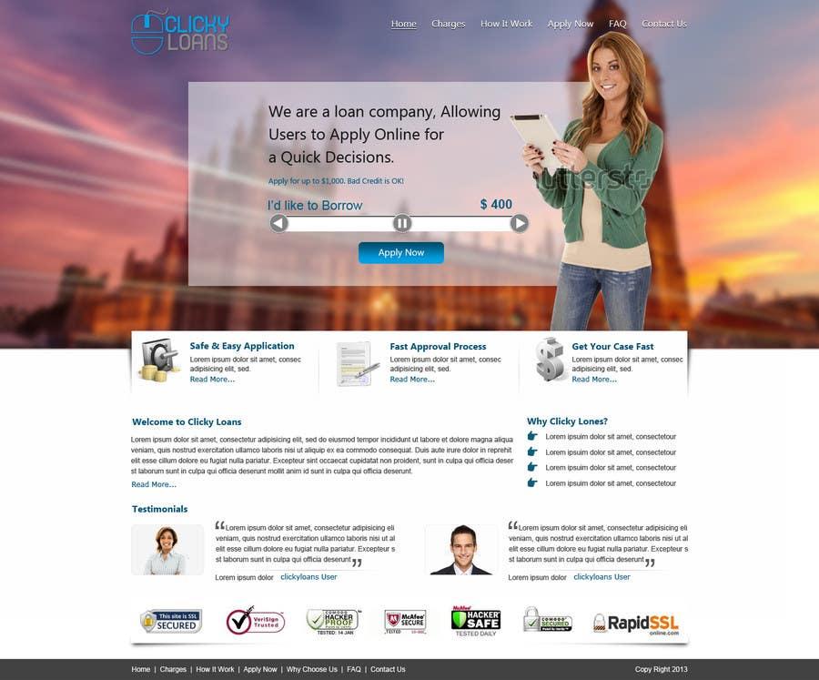 Inscrição nº 22 do Concurso para Website Design for clickyloans