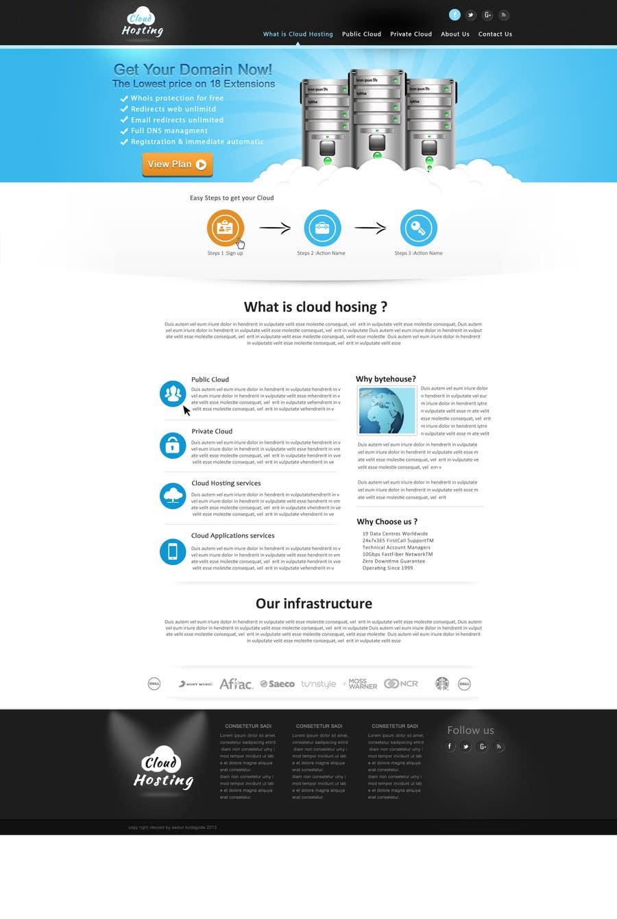 Inscrição nº                                         6                                      do Concurso para                                         Website Design for cloud hosting and cloud storage mini site for major UK hosting company
