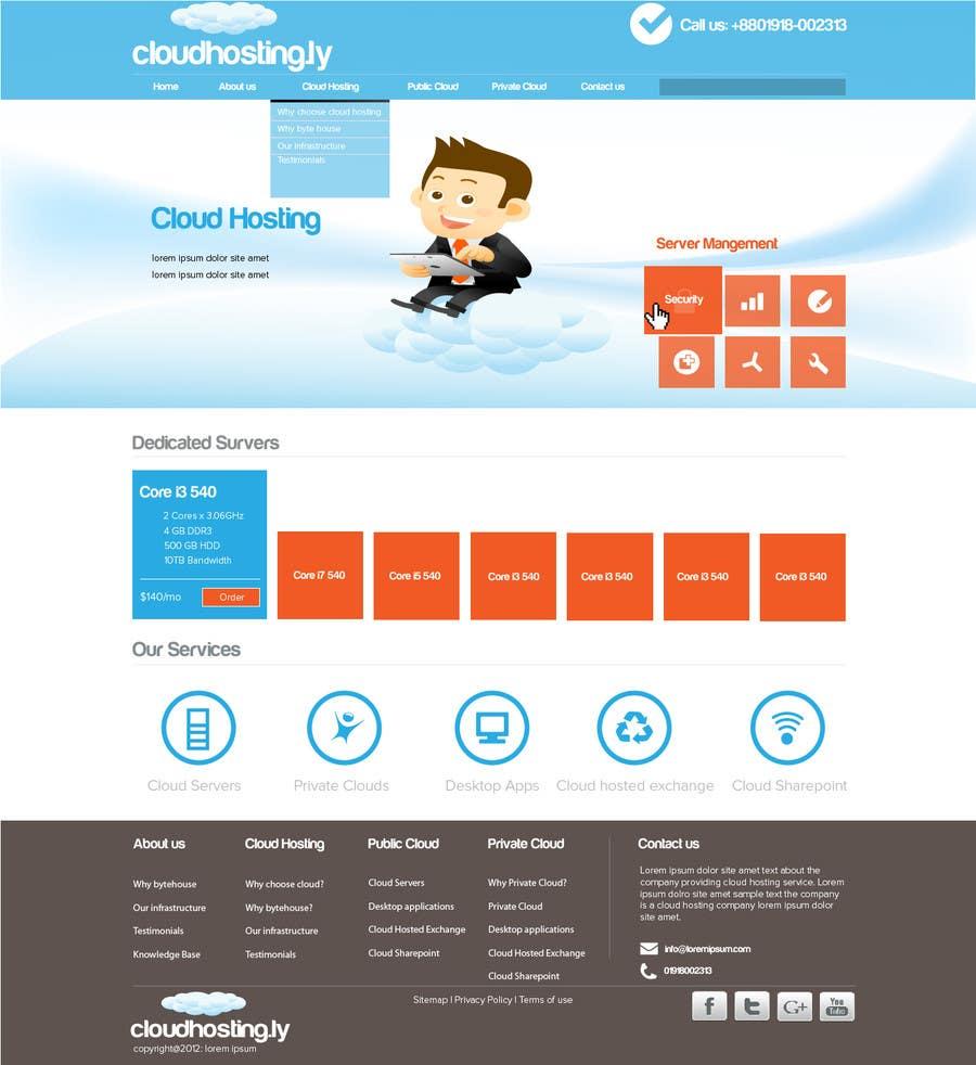 Inscrição nº                                         42                                      do Concurso para                                         Website Design for cloud hosting and cloud storage mini site for major UK hosting company