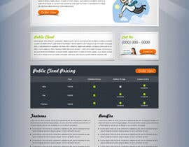 Nro 29 kilpailuun Website Design for cloud hosting and cloud storage mini site for major UK hosting company käyttäjältä nitinatom