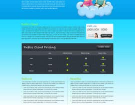 Nro 34 kilpailuun Website Design for cloud hosting and cloud storage mini site for major UK hosting company käyttäjältä nitinatom