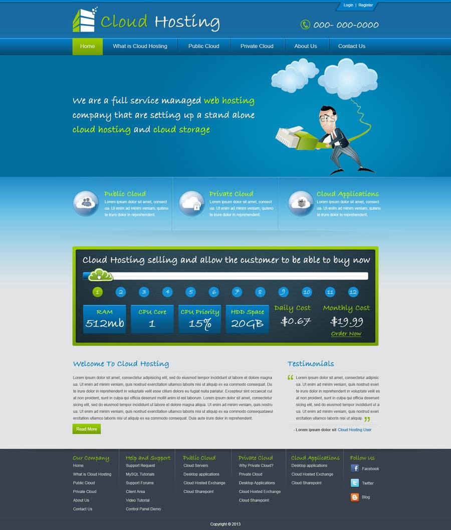 Inscrição nº 13 do Concurso para Website Design for cloud hosting and cloud storage mini site for major UK hosting company