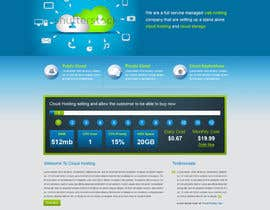 Nro 10 kilpailuun Website Design for cloud hosting and cloud storage mini site for major UK hosting company käyttäjältä nitinatom
