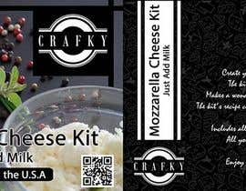 #15 for Sleeve Label Design for Mozzarella Cheese Kit by yafimridha