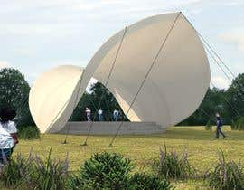 #14 for Rendering of a Saddle Span Tent in a Park by issevin