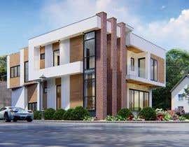 #44 for Realistic exterior rendering of a modern house by sajeervellur