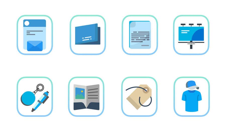 Contest Entry #10 for Design icons for print material categories