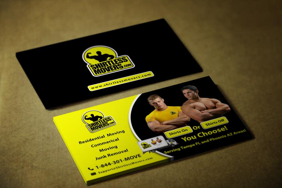 Entry #60 by youart2012 for Design some Business Cards for moving ...