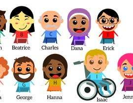Nro 6 kilpailuun Illustration of 48 avatars for edutech game käyttäjältä CiroDavid