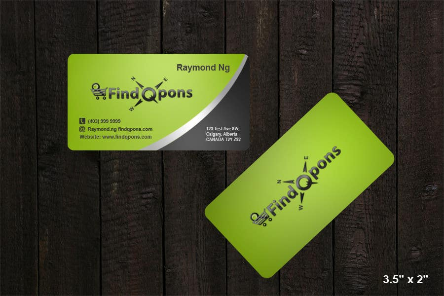 Contest Entry #                                        26                                      for                                         Business Card Design for FindQpons.com