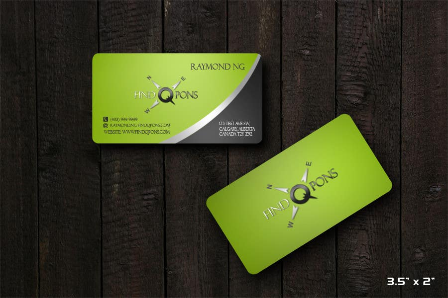 Contest Entry #                                        49                                      for                                         Business Card Design for FindQpons.com