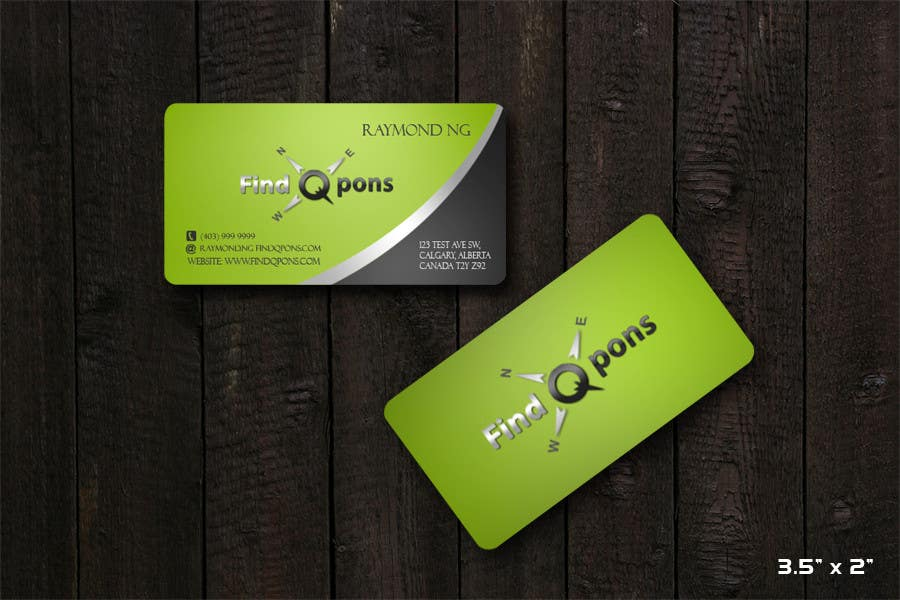 Participación en el concurso Nro.33 para Business Card Design for FindQpons.com