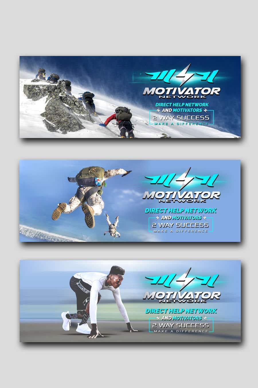 Kilpailutyö #70 kilpailussa Design a Banner - Motivator Network