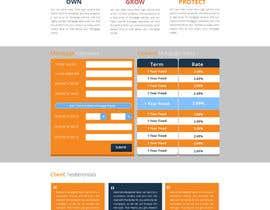 faizalmohamed88 tarafından Design a Website Mockup for Mortgage Broker: High End Design Required.  Home Page & Inner Page Design için no 43