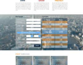 faizalmohamed88 tarafından Design a Website Mockup for Mortgage Broker: High End Design Required.  Home Page & Inner Page Design için no 45
