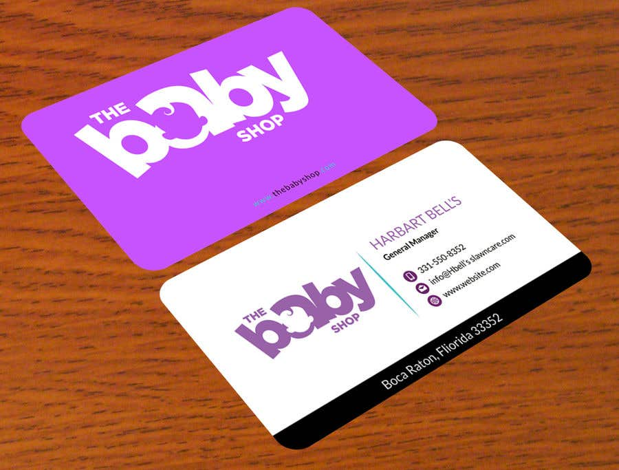contest entry 158 for baby shop business cards