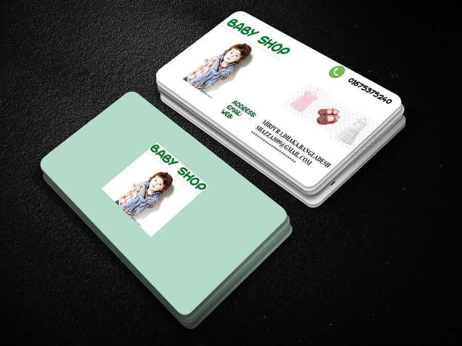 Entry #30 by surovi3099 for baby shop business cards | Freelancer