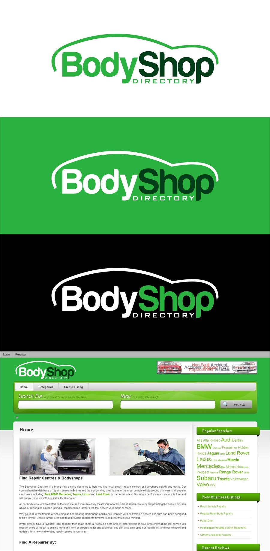 #32 for Logo Design for BodyShop Directory by trying2w
