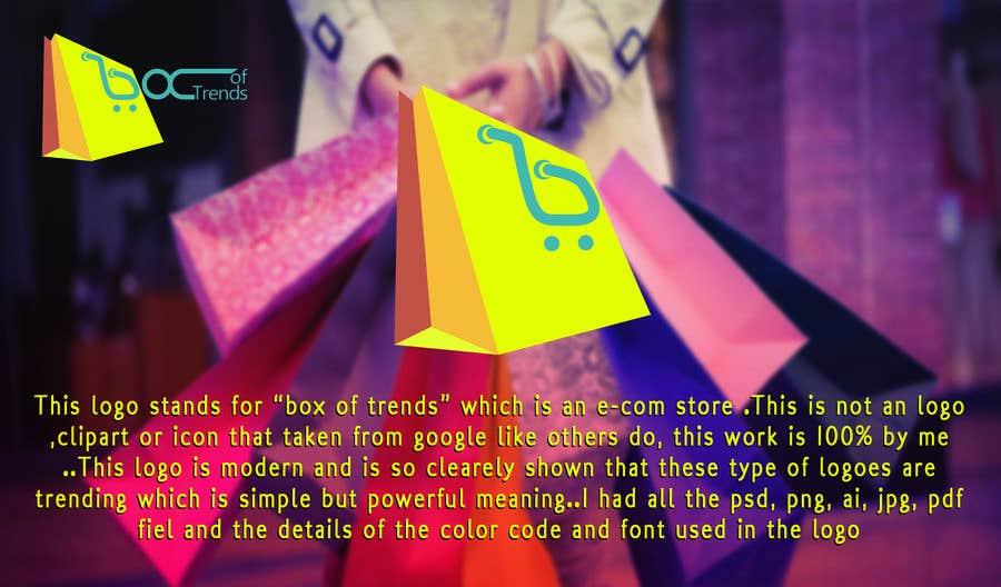 """Penyertaan Peraduan #209 untuk Logo for ecom store """"Box of trends"""""""