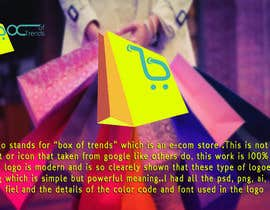 "#209 untuk Logo for ecom store ""Box of trends"" oleh shamulpilas"