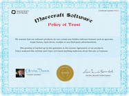 Graphic Design Contest Entry #20 for Website Certificate Design for Macecraft Software