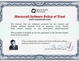 #12 untuk Website Certificate Design for Macecraft Software oleh BuDesign