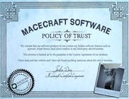 Graphic Design Contest Entry #18 for Website Certificate Design for Macecraft Software