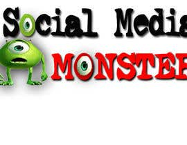 nº 45 pour Graphic Design for The Social Media Monster par kalderon
