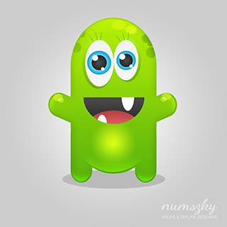 #13 for Graphic Design for The Social Media Monster by numszky