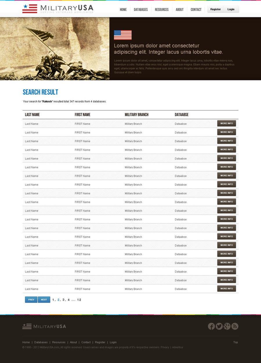 #45 for Website Design for MilitaryUSA.com by creator9