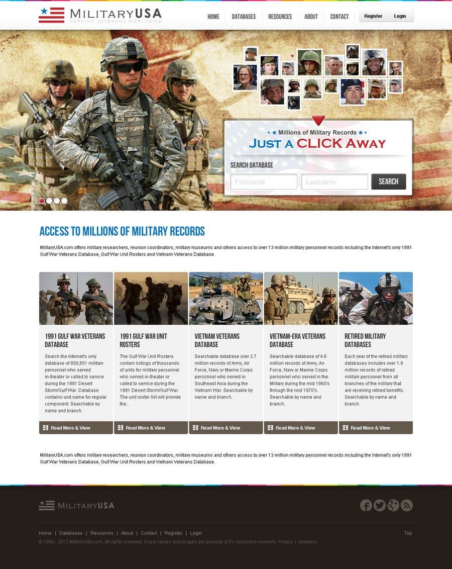 #41 for Website Design for MilitaryUSA.com by creator9