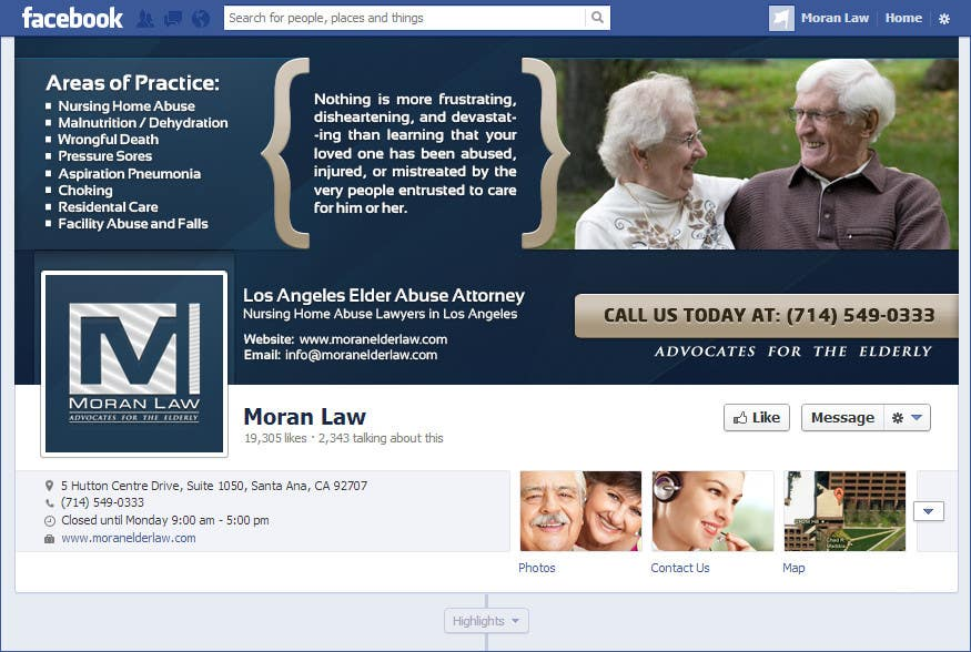 #31 for Facebook Cover Photo Design for Moran Law by softechnos5