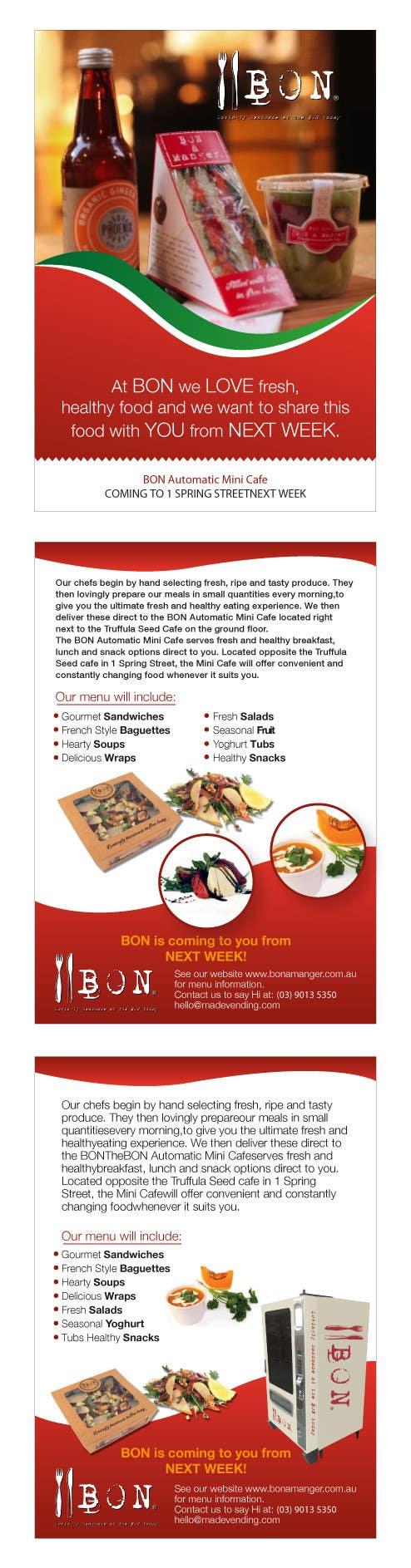 Конкурсная заявка №27 для Flyer Design for Bon a Manger