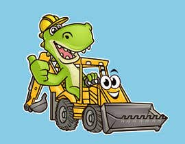 #9 para Cartoonists & Comic Artists - Need a logo of a T-Rex & an Excavator!!! por srsouvik
