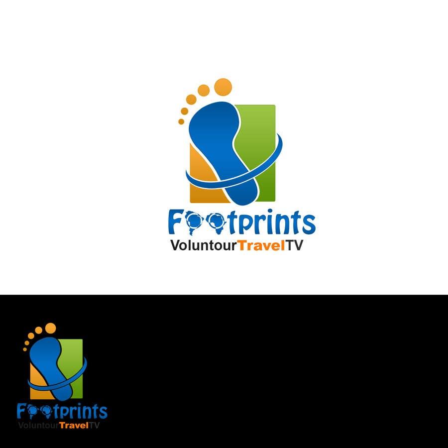 Inscrição nº                                         229                                      do Concurso para                                         Logo Design for Footprints Voluntour Travel Tv