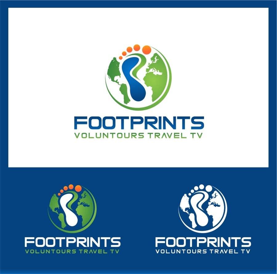 Inscrição nº                                         219                                      do Concurso para                                         Logo Design for Footprints Voluntour Travel Tv