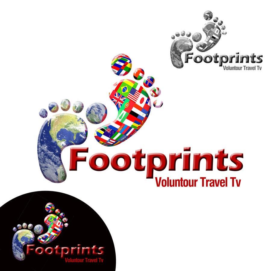 Inscrição nº                                         223                                      do Concurso para                                         Logo Design for Footprints Voluntour Travel Tv