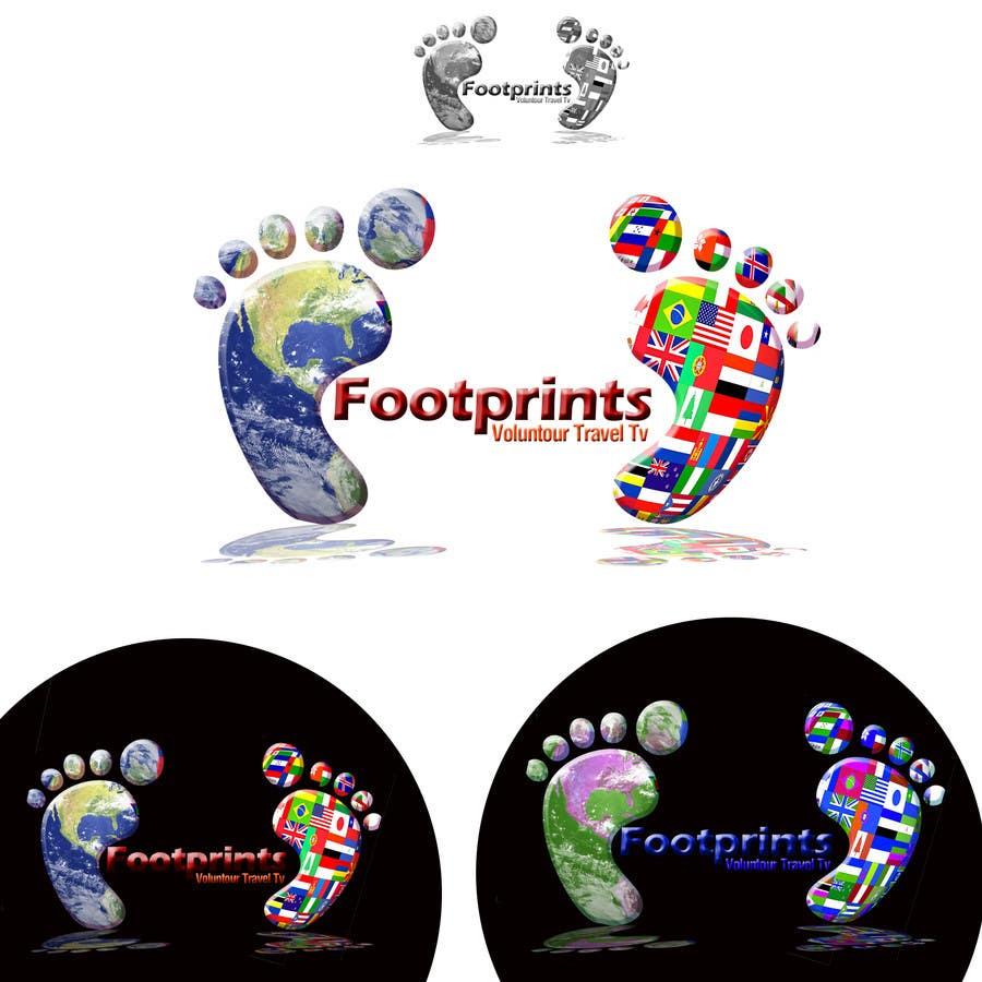 Inscrição nº                                         234                                      do Concurso para                                         Logo Design for Footprints Voluntour Travel Tv