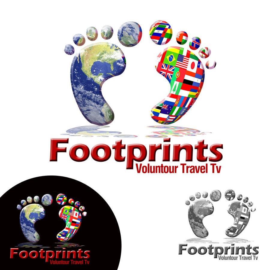 Inscrição nº                                         230                                      do Concurso para                                         Logo Design for Footprints Voluntour Travel Tv