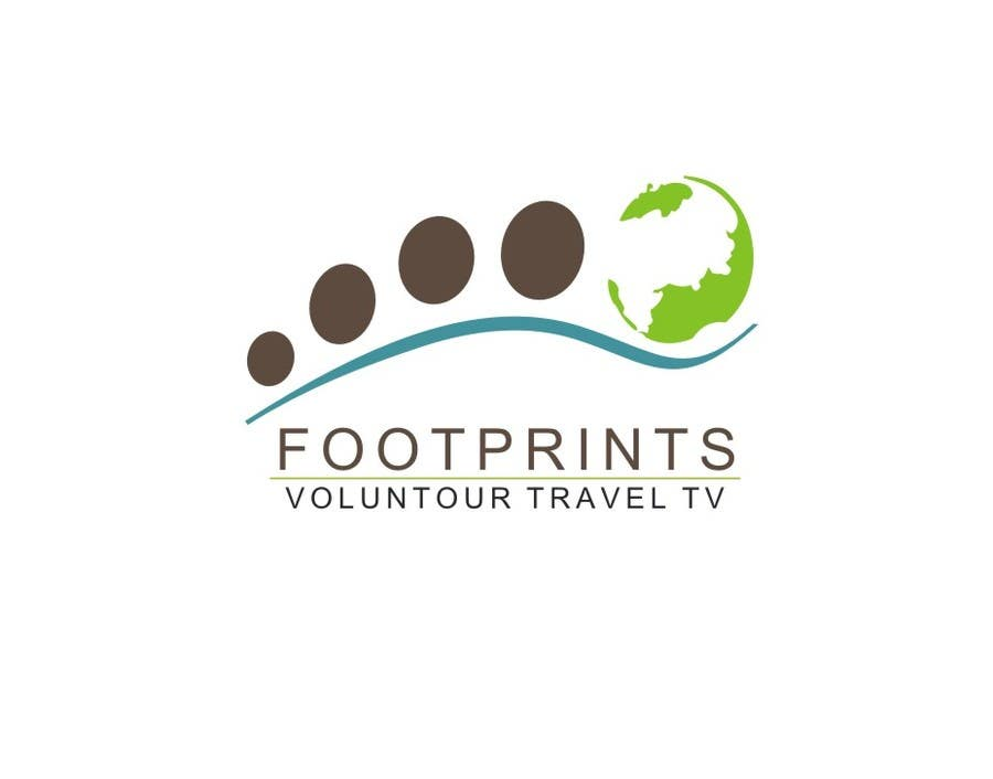 Inscrição nº                                         215                                      do Concurso para                                         Logo Design for Footprints Voluntour Travel Tv