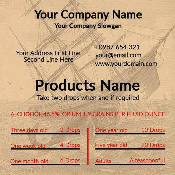 Contest Entry 4 For Vintage Inspired Business Card Old Medicine Label