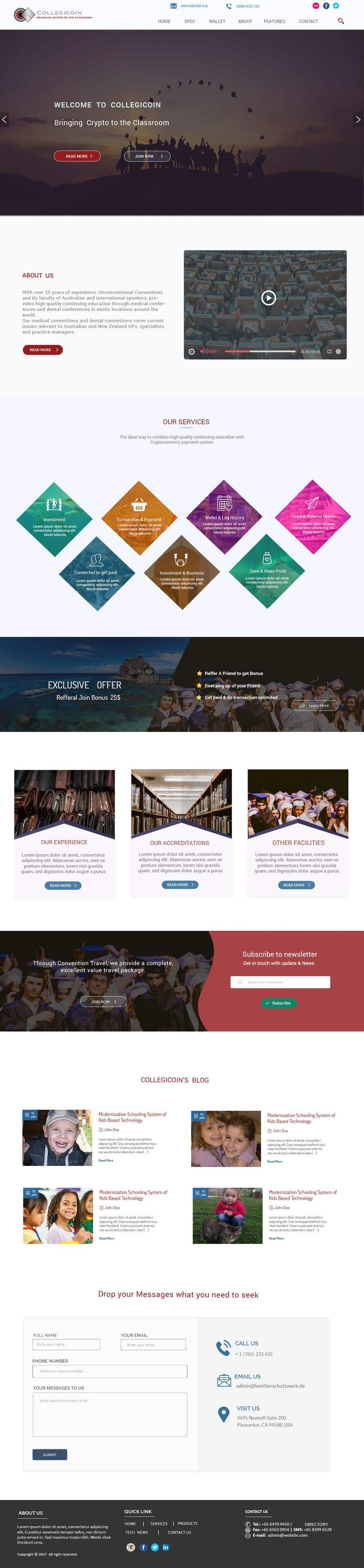 Entry 36 By Shamrat42 For Wordpress Website One Page Scrolling